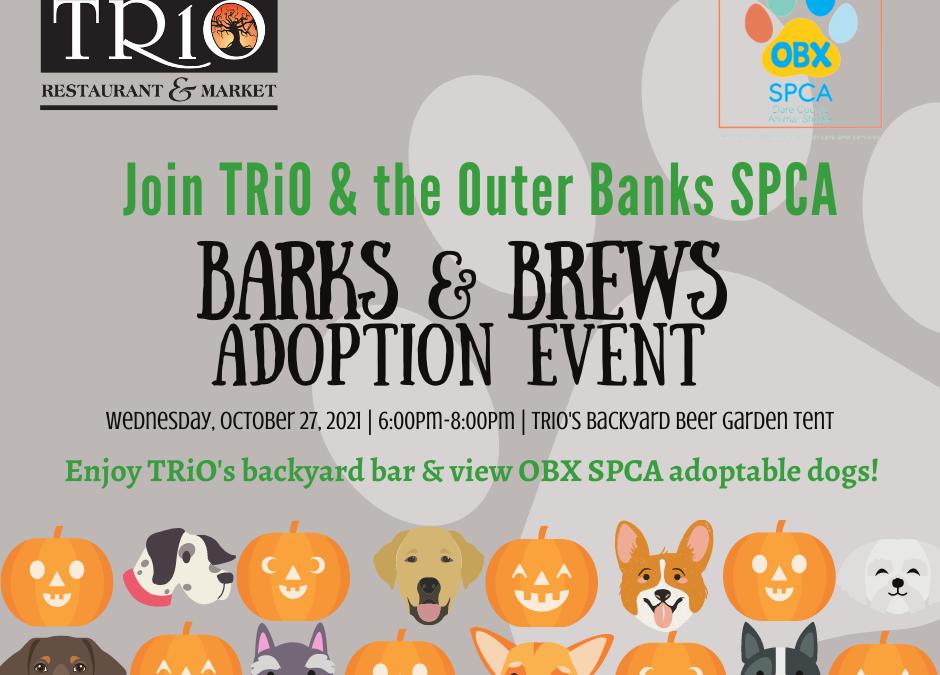 Barks and Brews Adoption Event at TRiO!